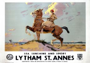 Lytham St Annes, Lancashire. Vintage LMS Travel poster by Charles Pears